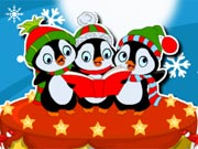 Penguin Christmas Cake Decor